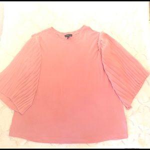 LANE BRYANT Blush Pink Top Blouse Plus 14/16 1X